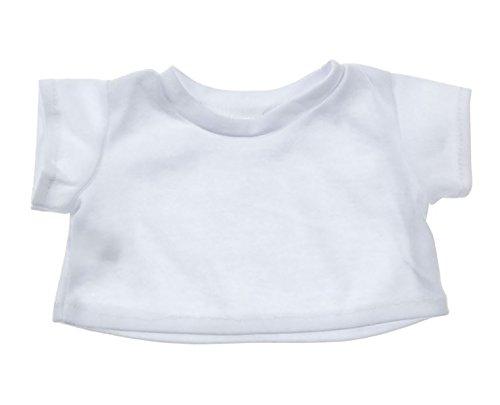 White Basic Tee Shirt Teddy Bear Clothes Fit 14
