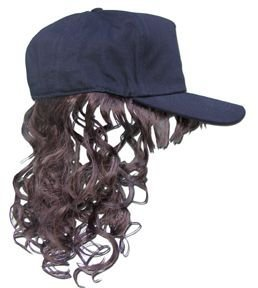 Billy Bob Billy Ray Hat with Brown Hair (Hats With Hair Attached)