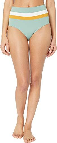 LSpace Women's Portia Stripe Reversible Bikini Bottoms, Cream/Bronze/Reef Green, X-Small