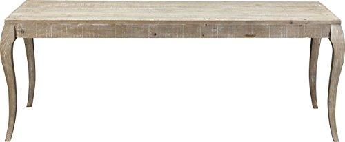 Dining Table Wash Wood (Burnham Home 17220 Valerie Dining Table, White-Wash)
