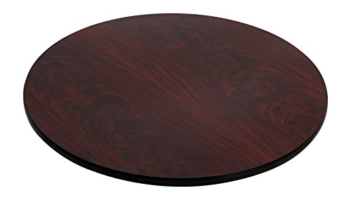 Flash Furniture 42'' Round Table Top with Black or Mahogany Reversible Laminate Top (Glass Furniture Replacement Patio)