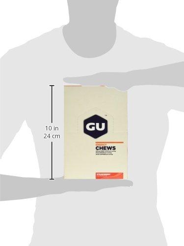 GU Energy Chews, Strawberry, 24 Count