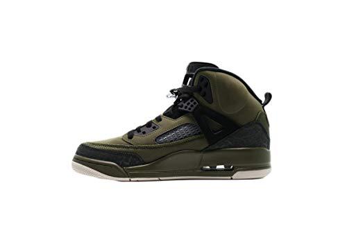 NIKE Jordan Spizike Mens Olive Canvas/Cone-Black Size -