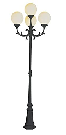 WHITE Bel Air Lighting Trans Globe Lighting 4080 WH Outdoor Wilshire 89 Pole Light