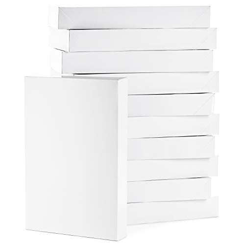 Hallmark Large Gift Boxes with Lids (12 X-Large Shirt Boxes for Sweaters or Robes)