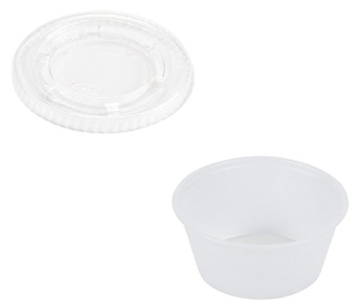 (DART 400PC / PL4N 4 oz. Plastic Disposable Souffle/Portion Cup with Lid (Pack of 125))