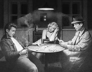 Impactint James Dean Marilyn Monroe Humphrey Bogart Playing Poker Cards Art Print Poster (22x28 Inch)