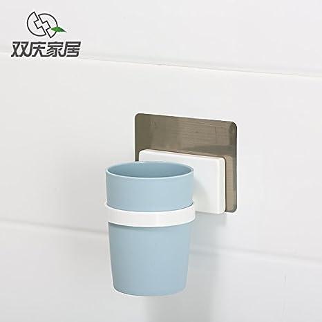Creative con ventosa soporte para cepillos de dientes Vaso para cepillos de dientes taza de cepillo taza dispensador de jabón para lavar Set: Amazon.es: ...