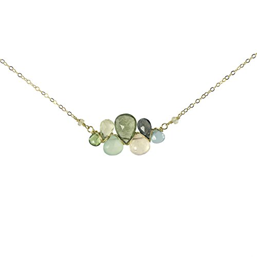 (Gemstone Wrap Pendant Necklace)