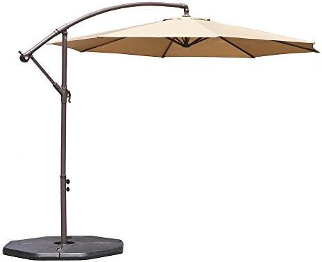 Offset Umbrella 10ft Cantilever Patio Hanging Umbrella Outdoor Big Umbrella Outdoor Parasol