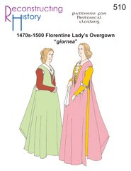 1470s-1500 Florentine Lady's Overgown Pattern.