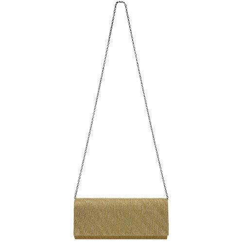 Donna Elegante Lunga Pochette Scintillante Ta514 Oro Caspar Cn5qpx