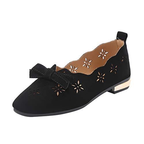 Carrés Talon Chaussons Papillon Mocassins 2019 Bouts À Massif Noir Manadlian Et Femmes Chaussures Nœud Simples Plates Mode Plat wPMqz6Y