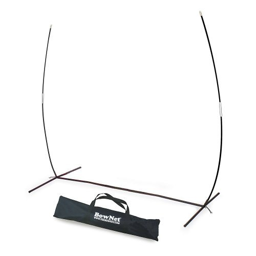 Fungo Replacement Net - Bownet 7' x 7' Heavy Duty Steel Frame with Original Bow-Poles - Fits 7 Bownet Training and Protection Nets