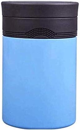 ステンレス鋼のシチュー鍋、学生保温弁当箱ランチボックス、大人熱いお粥バケット保温バケットシチュービーカー500ミリリットル YANGBM (Color : Blue)
