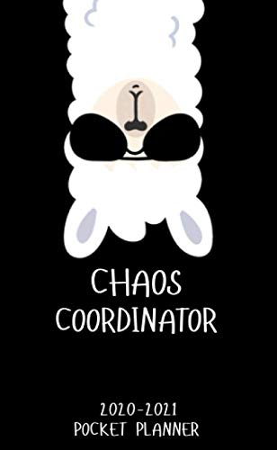 Chaos Coordinator 2020-2021 Pocket Planner: Nifty Business Llama 2 Year Monthly Calendar & Schedule Agenda   Two Year Organizer with Inspirational ... Book, Password Log, U.S. Holidays & Notes