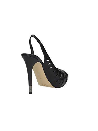 Guess - Sandalias de vestir de Piel para mujer negro