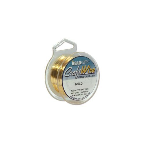 Beadsmith Craft Wire 18 Gauge Gold Color Round Wire 4 Yards