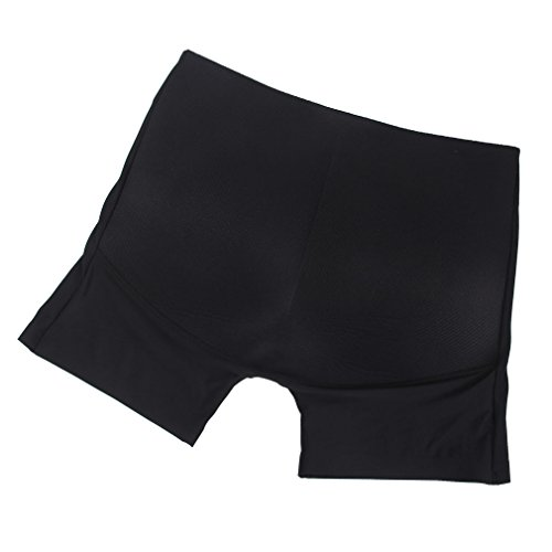 EOZY Womens Safety Padded Hot Pants Butt Enhancer Shaper Underwear Boy Shorts (Size 6-8, #1Black)
