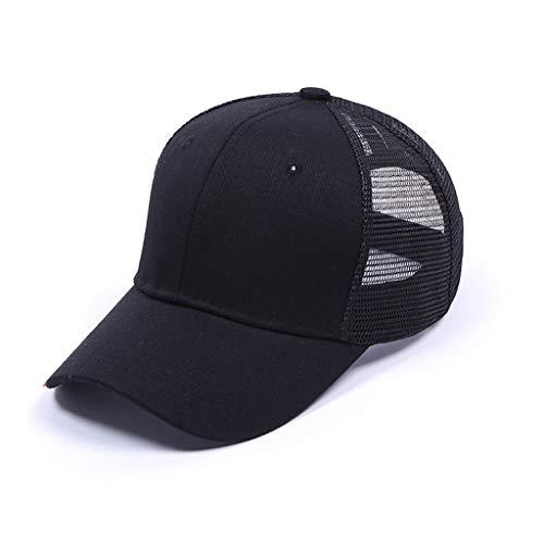 - Lloopyting Wide Brim Breathable Baseball Hat Women Men Sport Hat Dark for Outdoor Jogging UV Protection Black
