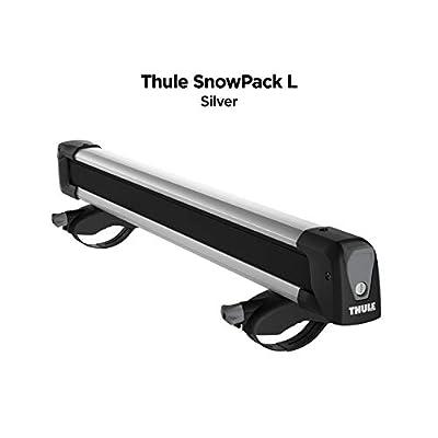 Thule SnowPack Ski/Snowboard Rack, 6 Pair-Aluminum, Large (6 Pr/4 Boards) (732600) : Sports & Outdoors