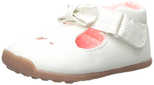 Carter's Every Step Stage 3 Girl's Walking Shoe, Chloe(Toddler), White/Pink, 4.5 M US Toddler (Little Girl Walking)