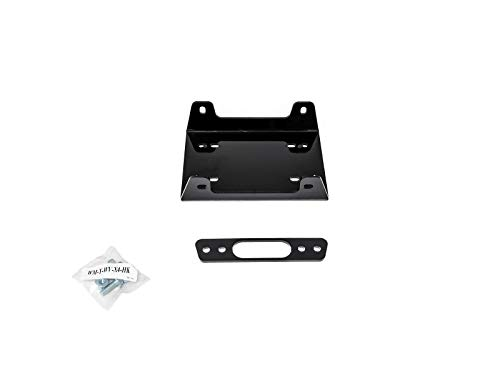 SuperATV Heavy Duty Winch Mounting Plate for Yamaha Wolverine X4 (2018+) - for Use with SuperATV Black Ops Winches