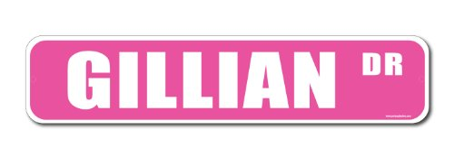 Gillian Pink Street Sign-Personalized Novelty Gift