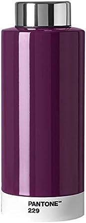 7.4 x 7.4 x 19 cm 630/ml Acero Inoxidable Pantone Botella Acero Inoxidable Aubergine 229