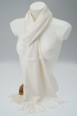 4bab67479ac5db Alowja Pashmina-Schal, Fair Trade, Winter-Creme: Amazon.de: Bekleidung