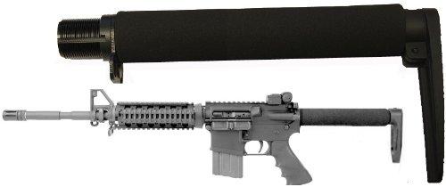 AR-GEAR Carbine (.223/5.56) Full Long Size 9.3' Fixed Skeleton Stock Aluminum Buttstock, Black