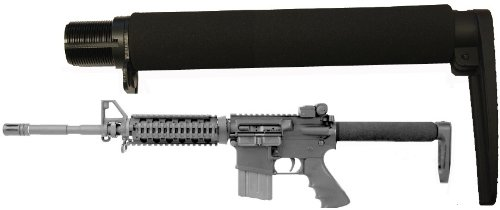 AR-GEAR Carbine (.223/5.56) Full Long Size 9.3'' Fixed Skeleton Stock Aluminum Buttstock, Black by AR-GEAR