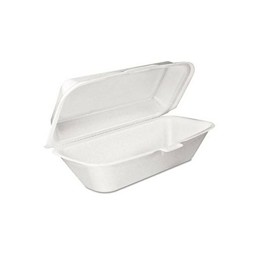 DART Performer Hoagie/All Purpose Foam Container with Removable H/L, White   ()