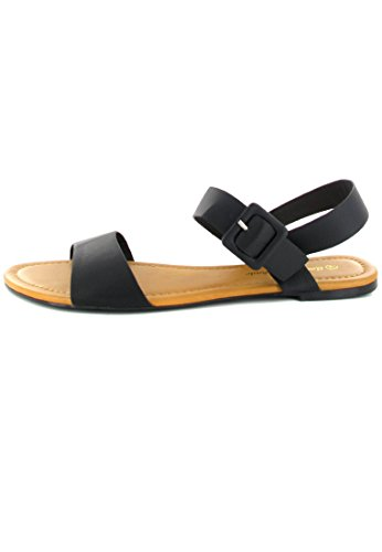 ANDRES MACHADO - Damen Sandalen - Schwarz Schuhe in Übergrößen