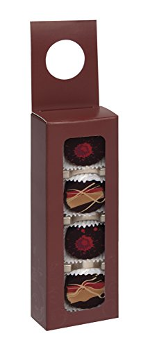 Burgundy Foil (Wine Hanger, available in a variety of designs by Tap- Quantity of 50 (Four-piece, Burgundy w/clear foil))