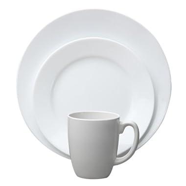 Corelle Vive 16-Piece Dinnerware Set, Dazzling White, Service for 4