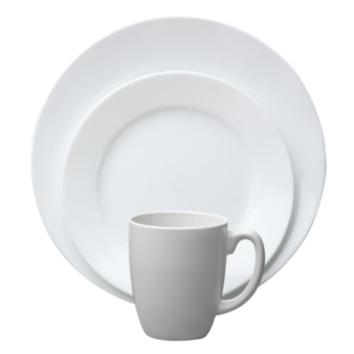 Corelle Vive 16-Piece Dinnerware Set, Dazzling White, Service for 4