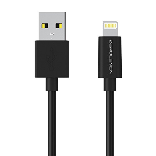 ZeroLemon Lightning to USB Plastic PVC Cable 6 inch / 15 cm