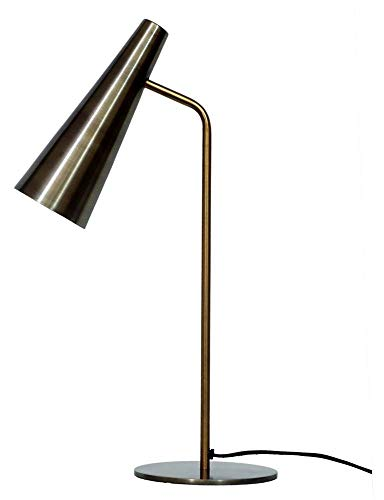 (Trumpet Table Lamp in Anitque Brass)