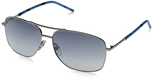 Marc Jacobs Marc62s Aviator Sunglasses, Palladium/Gray Gradient, 59 - Marc Aviators Jacob