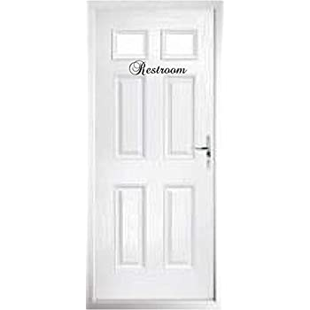 Walls with Style Door Decals Pantry, La Cuisine, Les Toilettes, Powder Room, Stickers, (Restroom 12