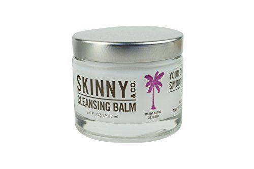 Skinny & Co Rejuvenating Cleansing Balm (2oz) Coconut Oil, Jasmine, Patchouli, Sandalwood essential oils. Makeup Remover, Cleanser, Moisturizer