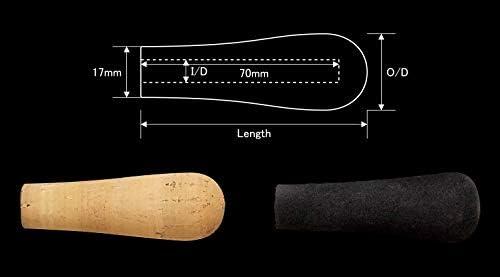 ジャストエース(Justace) コルクグリップ KGB-08C 内径8mm 外径27mm 長さ80mm セパレートリアグリップ