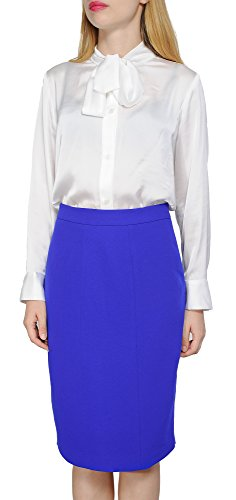 Marycrafts Women's Lined Pencil Skirt 4 Work Business Office 14 Royal Blue - Lined Pencil Skirt