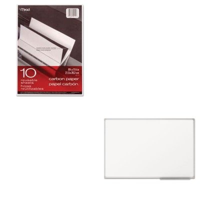 KITMEA40114MEA85356 - Value Kit - Quartet Dry Erase Board (MEA85356) and Mead Black Carbon Mill Finish Paper (MEA40114) by Quartet