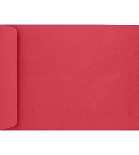 9 x 12 Open End Envelopes - Holiday Red (500 Qty.) LUXPaper