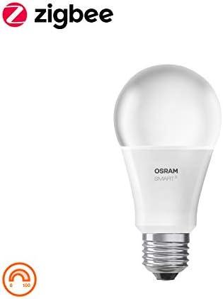 OSRAM Smart+ LED mit Fernbedienung, ZigBee LED Lampe E27 mit Dimmer| warmweiß, ersetzt 60 Watt Glühbirne, Direkt kompatibel mit Echo Plus und Echo Show (2. Gen.), Kompatibel mit Philips Hue Bridge