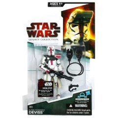 - Star Wars The Legacy Collection Clone Commander Deviss BD37 33/4 Inch Scale Action Figure