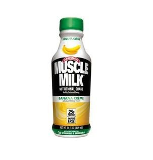 - Muscle Milk, Banana, 14 Oz. Plastic Bottles (Pack of 12)