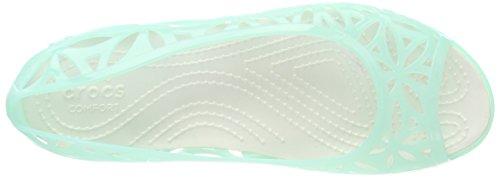 Punta Mint Azul Flat Jelly Ii Women Bailarinas oyster Isabella Con Abierta new Crocs Para Mujer O0wUq